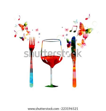Restaurant background design - stock vector