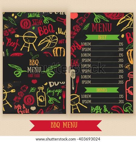 restaurant bbq menu brochure vector cafe stock vector royalty free