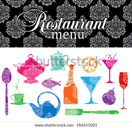 Restaurant, bistro menu. - stock vector