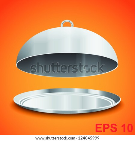 Restaurant cloche. Vector illustration - stock vector