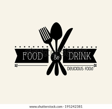 Restaurant design over beige background,vector illustration - stock vector