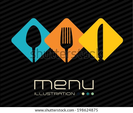 Restaurant design over white background, vector illustration - stock vector