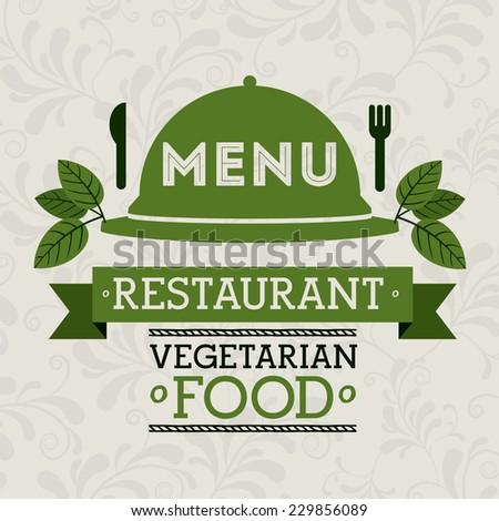 Restaurant design over white background,vector illustration - stock vector