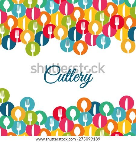 Restaurant design over white background, vector illustration. - stock vector