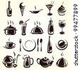 Restaurant elements set - stock photo