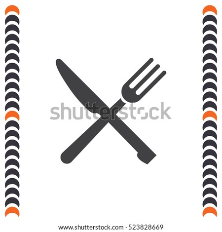 Restaurant fast food vector icon. Food place sign. Diner symbol
