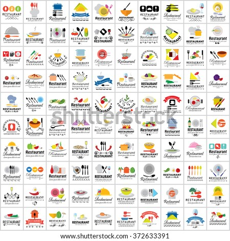 Restaurant Flat Icons Set - Isolated: Vector Illustration, Graphic Design. Collection Of Colorful Icons. For Web, Websites, Print, Presentation Templates, Mobile Applications And Promotional Materials - stock vector