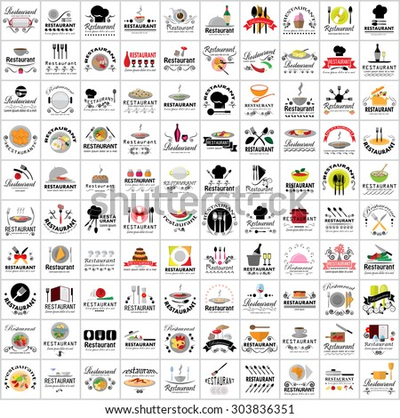 Restaurant Flat Icons Set: Vector Illustration, Graphic Design. Collection Of Colorful Icons. For Web, Websites, Print, Presentation Templates, Mobile Applications And Promotional Materials - stock vector