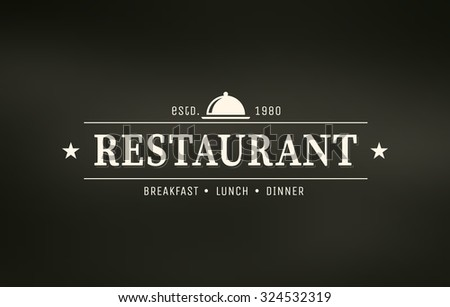 Restaurant graphic design logo template, vintage insignia - stock vector