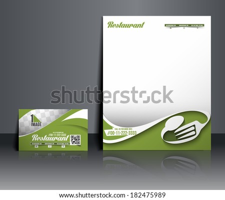 Restaurant & Hotel Corporate Identity Template  - stock vector