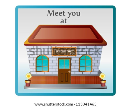 Restaurant icon for meeting - stock vector