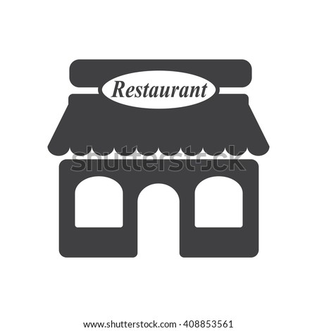 restaurant icon. restaurant icon on the white background - stock vector