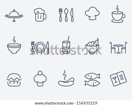Restaurant Icon Set Stock Vector
