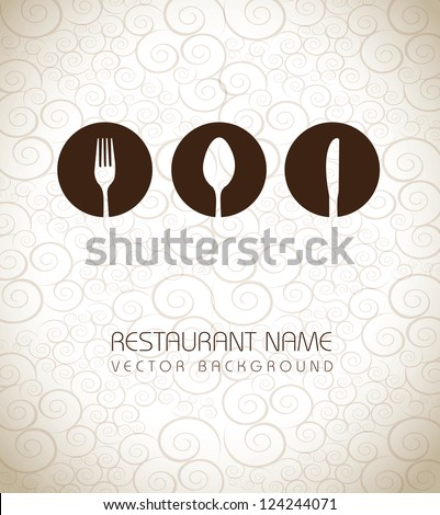 Restaurant icons over vintage background vector illustration