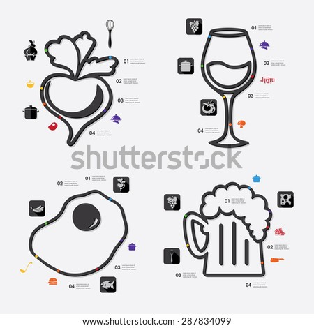 restaurant infographic - stock vector