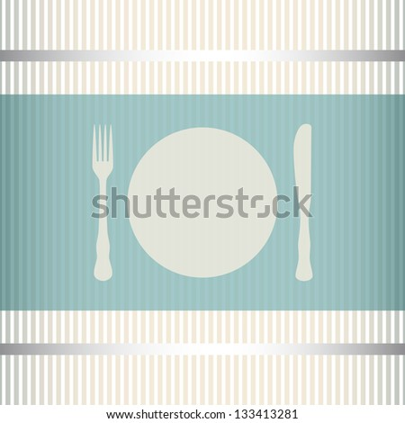 Restaurant menu background with stripes. EPS10 transparency used - stock vector