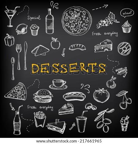 Restaurant menu. Bakery and cafe. Template design.Vector illustration. - stock vector