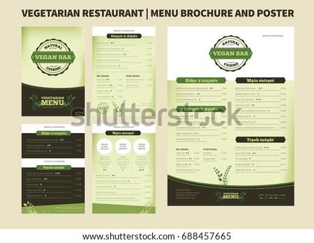 Restaurant Menu Brochure Template Vector Design Stock Vector - Menu brochure template