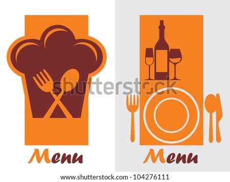Restaurant Menu Card Design template - stock vector