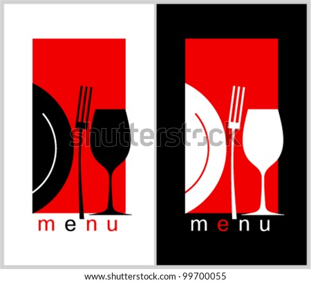 Restaurant Menu Card Design template. Long format. - stock vector