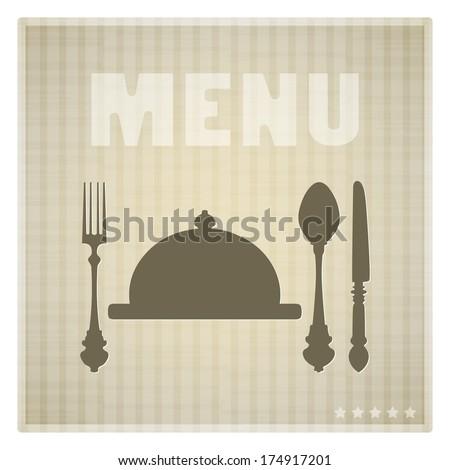 Restaurant Menu card design template, striped background - stock vector