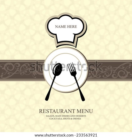 Restaurant menu design / Menu design with chef hat