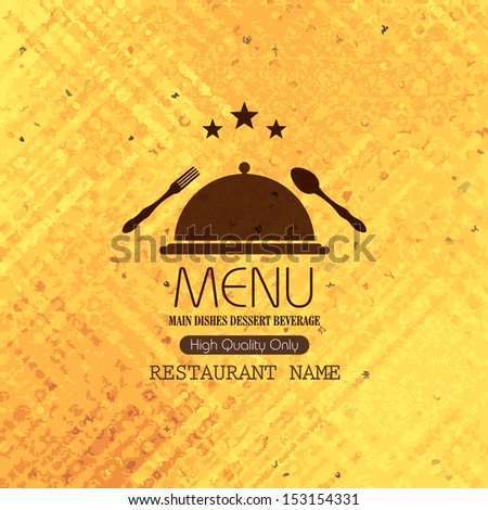 Restaurant menu design / Menu design with spoon and fork