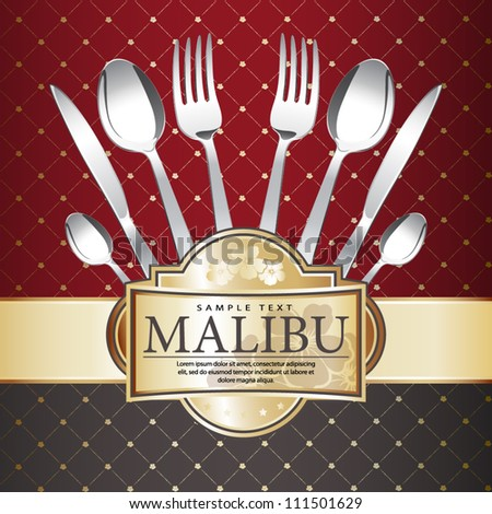 Restaurant menu design on Royal background. Vector. Grouped for easy editing. - stock vector