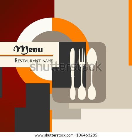 restaurant menu design template, copy space - stock vector