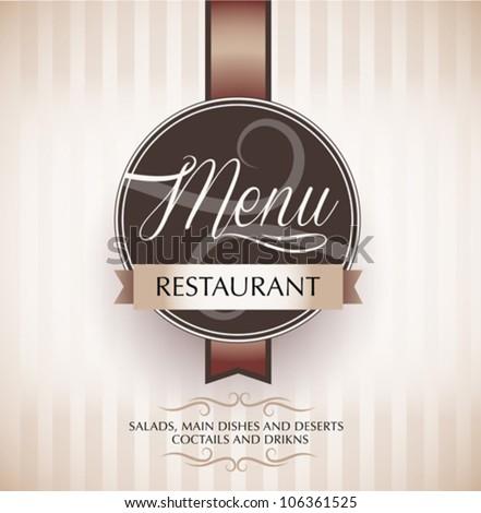 Restaurant menu design template - vector - stock vector