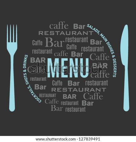 Restaurant menu design text 1 - stock vector