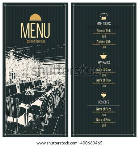 Restaurant Menu Design Vector Brochure Template Stock Vector - House brochure template