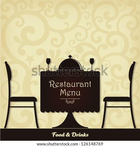 Restaurant menu design. Vector illustration. - stock vector