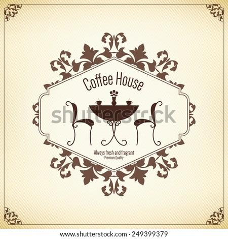 Restaurant menu design. Vector menu brochure template for cafe, coffee house, restaurant, bar. Food and drinks logotype symbol design - stock vector