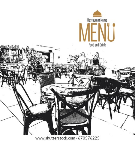 Restaurant Menu Design Vector Brochure Template For Cafe Coffee House