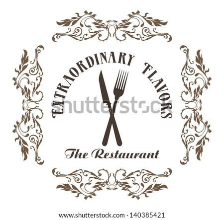 restaurant menu elegant - stock vector