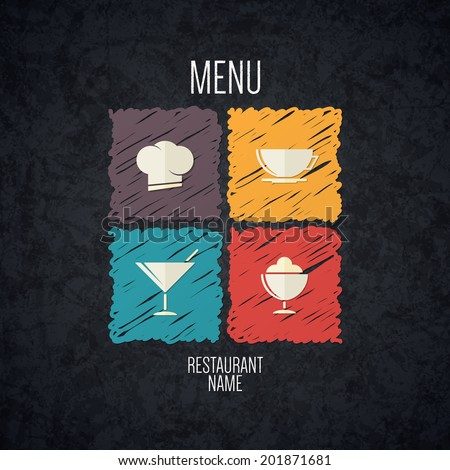 Restaurant menu. Flat design - stock vector