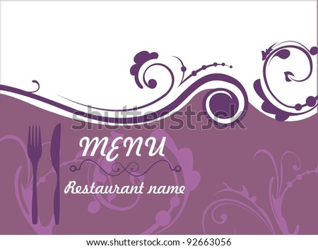 Restaurant menu in floral style - stock vector