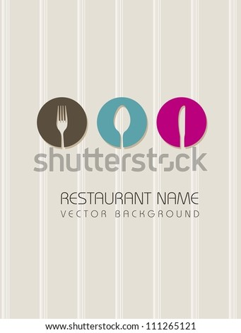 restaurant menu over beige background. vector illustration - stock vector