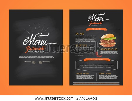 Restaurant Menu Template Design Food Flyer Stock Vector Hd Royalty