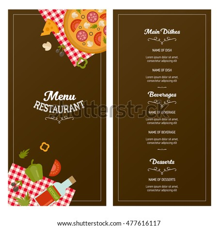 Restaurant Menu Template Two Banners Great Stock Vector - Delivery menu template