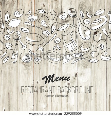 Restaurant Menu Template. Vector - stock vector
