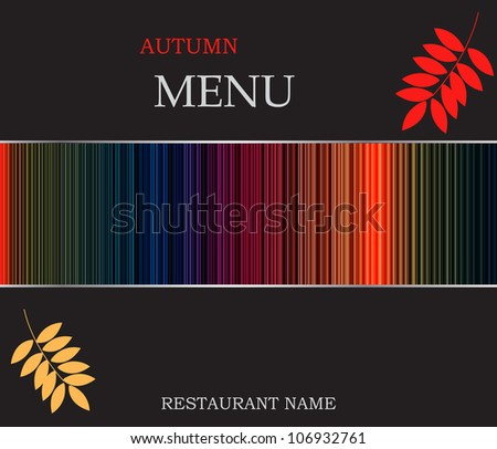 Restaurant menu template vector illustration - stock vector