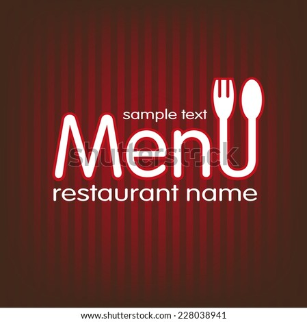 restaurant menu to set the menu of the day - stock vector