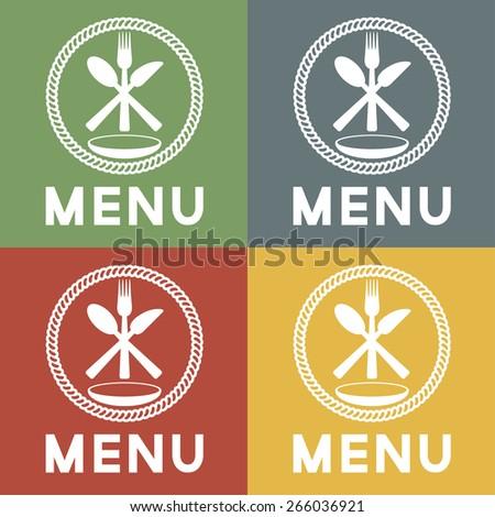 restaurant menu vector design template - stock vector