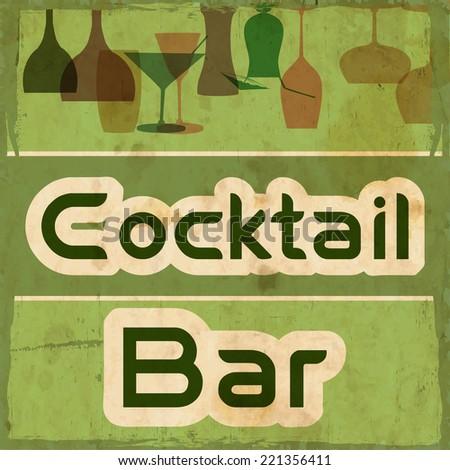 Restaurant or wine bar menu design. - stock vector
