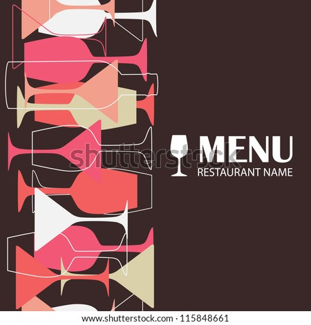 Restaurant or wine bar menu design. Seamless vector illustration - stock vector