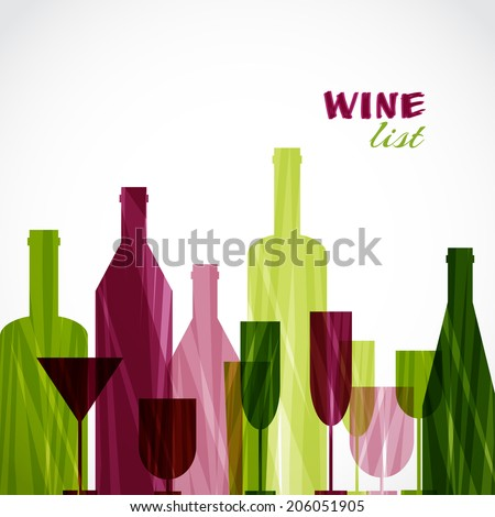 Restaurant or wine bar menu design. Vector illustration - stock vector