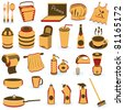 Restaurant supply icons - stock vector