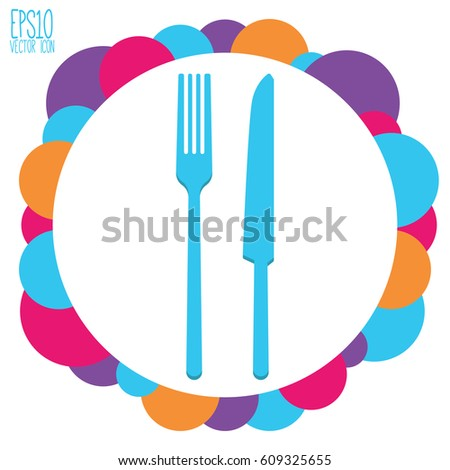 Restaurant vector icon. Flat style for graphic and web design, Modern simple vector sign. Internet concept. Trendy symbol for website design web button, mobile app.